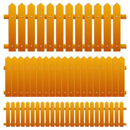 Wooden fence vector design illustration isolated on background Ilustracje wektorowe
