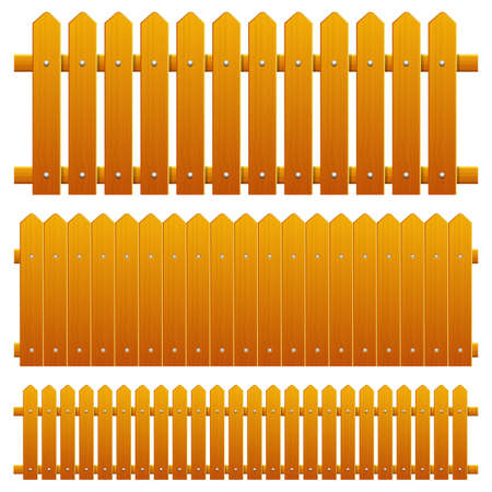 Wooden fence vector design illustration isolated on background Vector Illustration