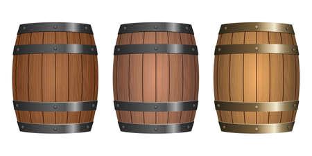 Wooden barrel vector design illustration isolated on white background Illustration