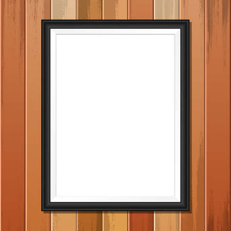 Photo frame vector design illustration isolated on wooden background