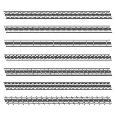 Construction reinforced steel vector design illustration isolated on white background