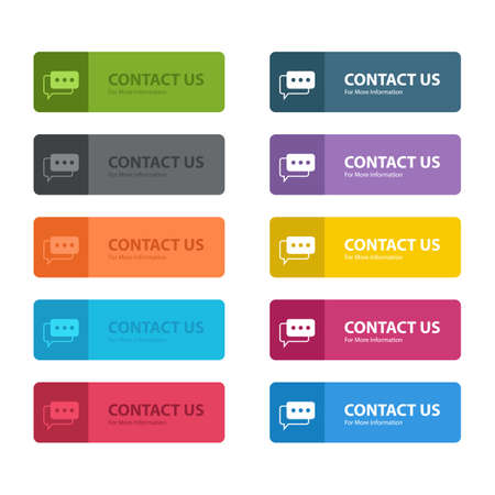 Contact us button vector design illustration isolated on white background