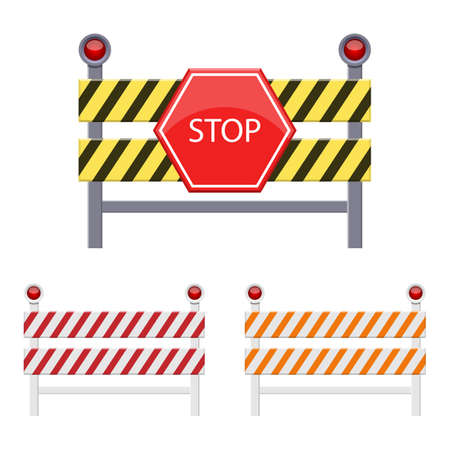 Stop barrier vector design illustration isolated on white background
