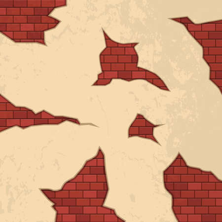 Brick cracks on wall vector design illustration Иллюстрация