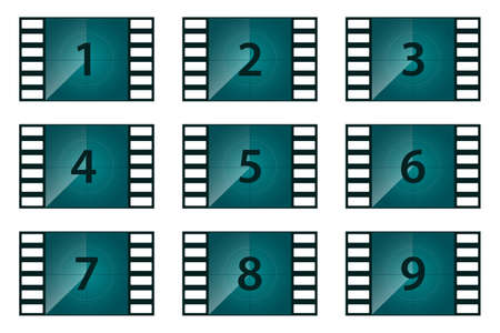 Movie countdown vector design illustration isolated on white background Vecteurs