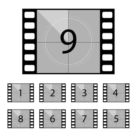 Movie countdown vector design illustration isolated on white background