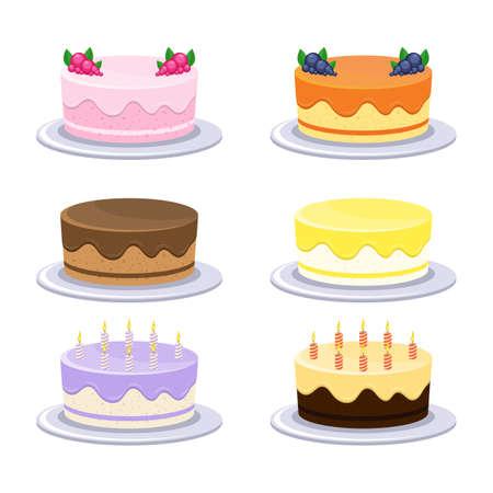 Birthday cake vector design illustration isolated on white background