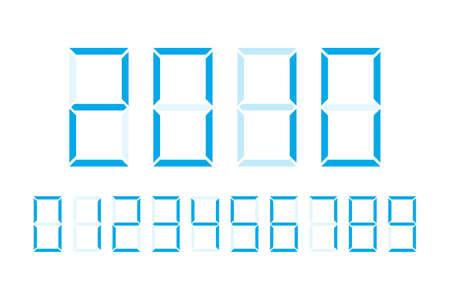 Digital numbers vector design illustration isolated on white background Ilustração