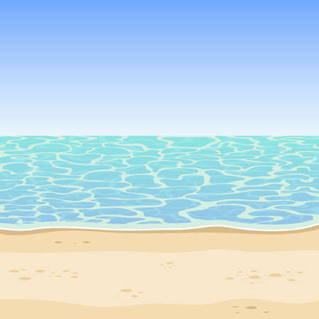 Sea and beach background vector design illustration Illustration