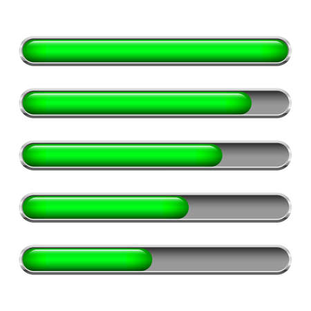 Loading bar vector design illustration isolated on white background Illusztráció