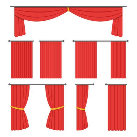 Theater curtain vector design illustration