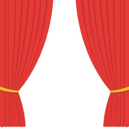 Theater curtain vector design illustration Vettoriali