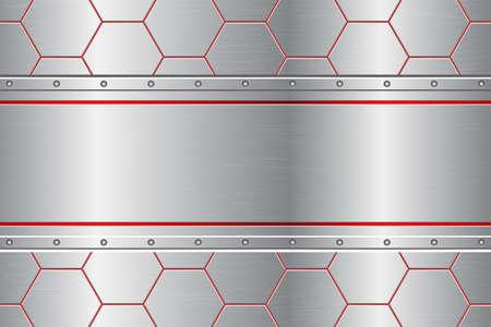 Metallic comb abstract background vector design illustration