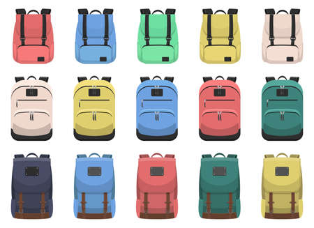 Backpack vector design illustration isolated on white background