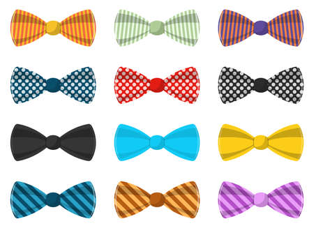 Stylish bow tie vector design illustration isolated on white background
