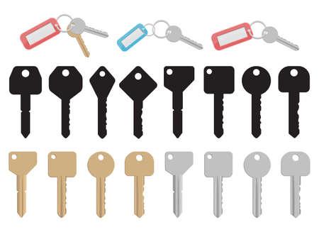 Door key vector design illustration isolated on white background