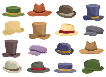 Old retro man hat vector design illustration isolated on white background