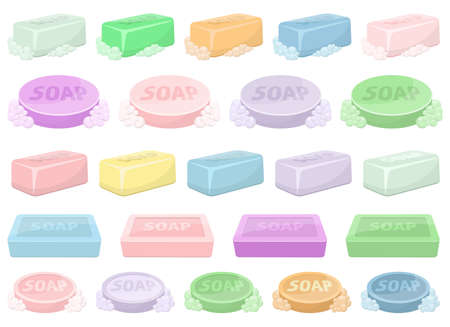 Solid soap for washing vector design illustration isolated on white background