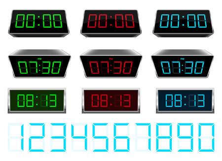 Digital clock vector design illustration isolated on background