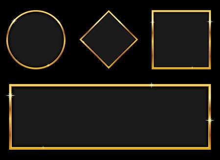 Luxury golden banner vector design illustration isolated on background Vektorgrafik
