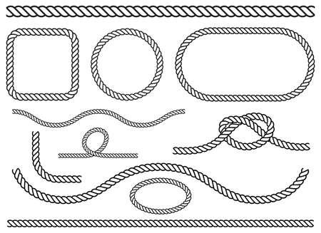 Rope set vector design illustration isolated on white background