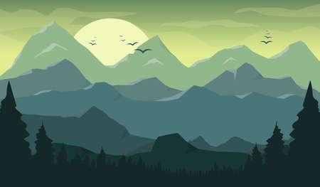 Mountain beautiful landscape background vector design illustration