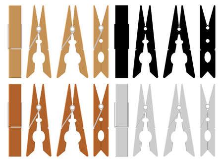 Clothes pin vector design illustration isolated on white background Ilustração Vetorial