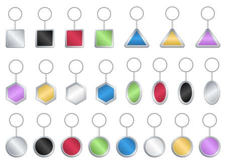 Key chain vector design illustration isolated on white background Ilustración de vector