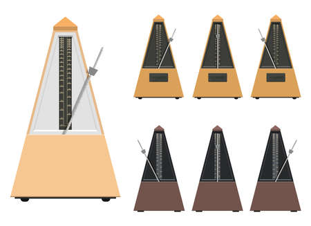 Metronome vector design illustration isolated on white background