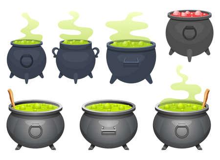 Witch cauldron vector design illustration isolated on white background