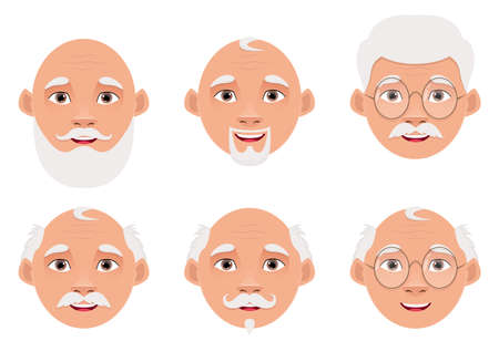 Old man vector design illustration isolated on white background