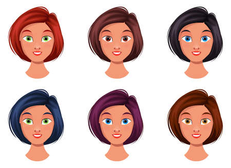 Woman face vector design illustration isolated on white background