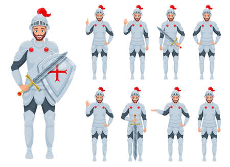 Knight man vector design illustration isolated on white background
