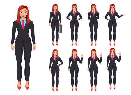 Business woman vector design illustration isolated on white background Vettoriali