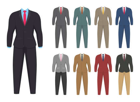 Businessman suit vector design illustration isoalted on white background Vettoriali
