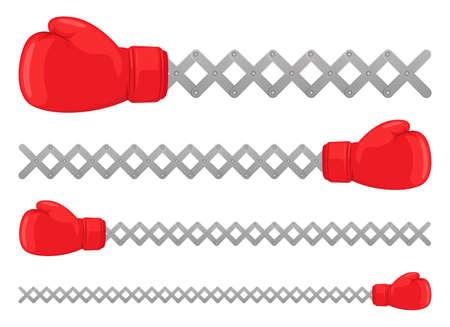 Boxing gloves vector design illustration isolated on white background