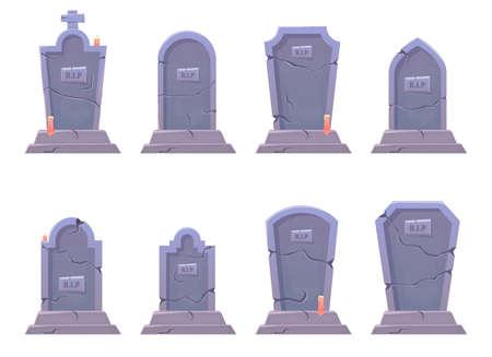 Grave stone vector design illustration isolated on white background Vettoriali