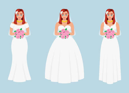 Bride vector design illustration isolated on blue background