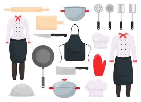 Kitchen set vector design illustration isolated on white background
