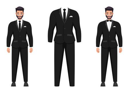 Groom vector design illustration isolated on white background