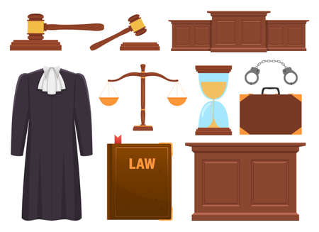 Judge collection vector design illustration isolated on white background