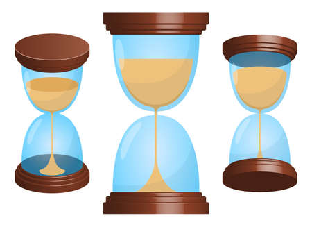 Hourglass vector design illustration isolated on white background