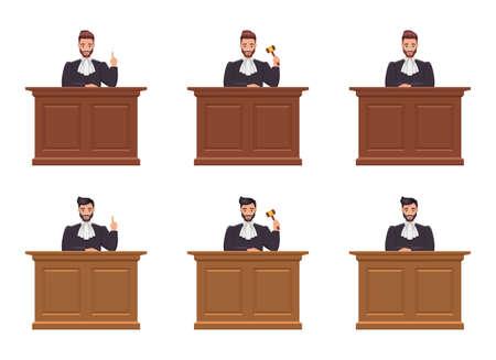 Judge man vector design illustration isolated on white backgroundâ