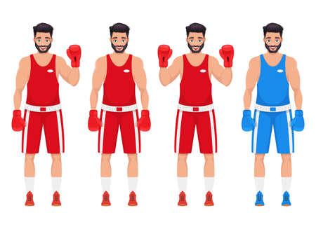 Boxing man vector design illustration isolated on white background