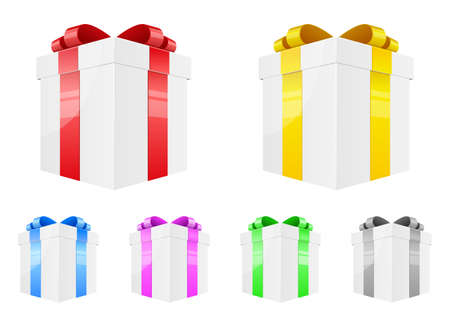 Present box vector design illustration isolated on white background