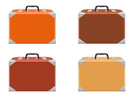 Suitcase set vector design illustration isolated on white background