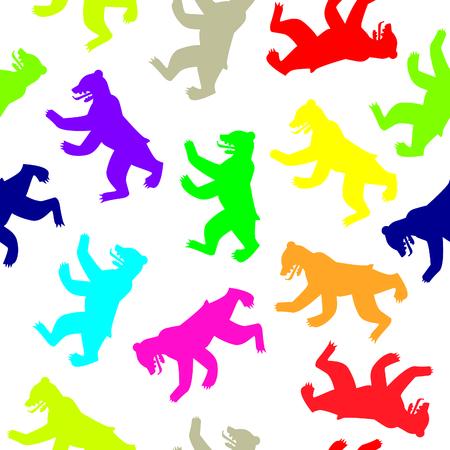 berlin: berlin bear seamless pattern Illustration