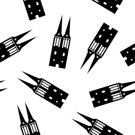 st  nicholas: st. nicholas church in berlin seamless pattern