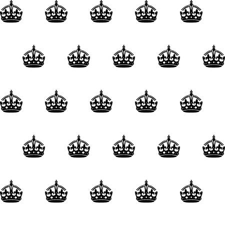 edward: london royal crown seamless pattern Illustration