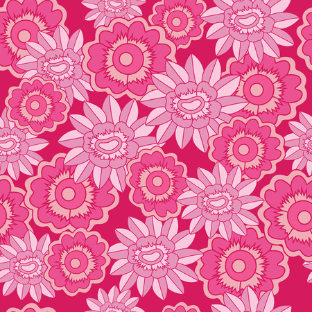 Vector Floral seamless pattern background. Perfect for fabric, wallpaper projects, scrapbooking, gift wrap papers etc. Illustration